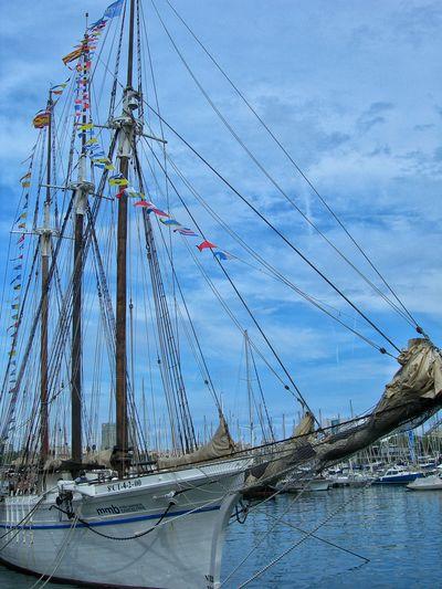 Harbor Harbour Boat Cloud - Sky Mast Nautical Vessel No People Rope Sailboat Sailing Sailing Ship Sea Ship Three Masts Water Yacht