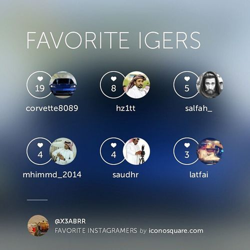 Favorite Igers ,Photoiconosquare Firsticonosquare geoiconosquare by @iconosquare iconosquare