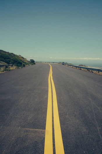 Path Road Asphalt Landscape Road Marking Sky The Way Forward Yellow Breathing Space
