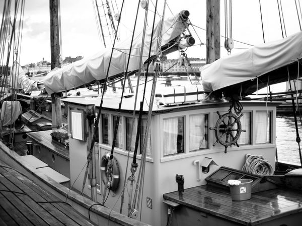 Looking at boats is a nice way to spend a sunny day ☺️ on the sea, i prefer the kayak though 😊 Window Indoors  Harbor Focus On Foreground No People Boat Boats Shallow Depth Of Field Ship Ships Quayside Blackandwhite Black And White Black & White Monochrome Monochrome Photography MonochromePhotography