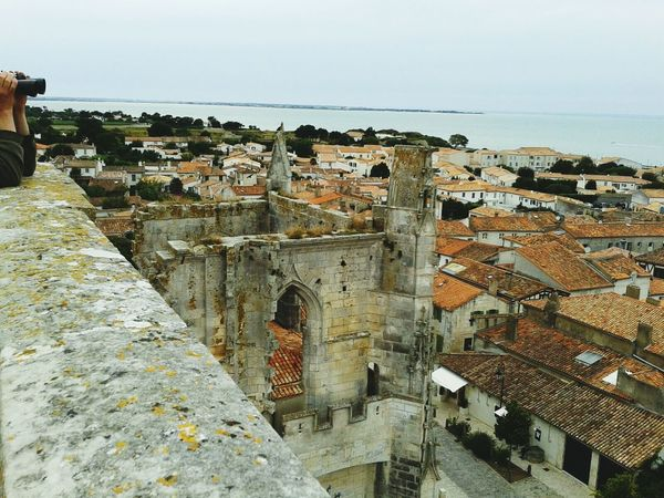 Architecture Architecture_collection Architecturelovers Architecturephotography Church Church Architecture Sky Sea Sea And Sky Sea_collection View From Above View On The City Roofs Ile De Re - France