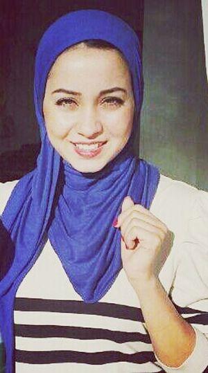 Just Smile  Lady Hijab Blue