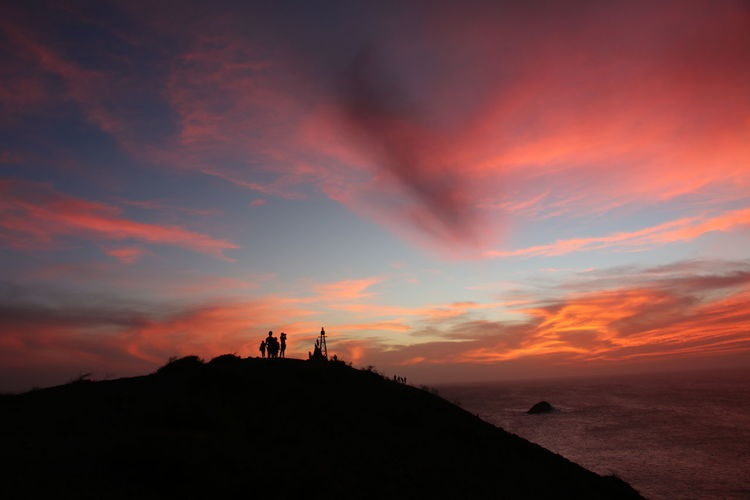 Sunset - pink sky at Cabo de la Vela Beauty In Nature Cloud - Sky Dramatic Sky Hill Mountain Nature Outdoors People Pink Sky Scenics Silhouette Sky Sunset