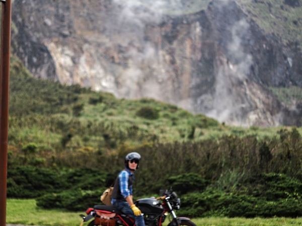 Grass Day Bicycle Riding Outdoors Nature One Person Tree Motorcycle Lifestyles Landscape People Mountain Childhood Adult Mountain Bike Real People Biker One Man Only Adults Only 臺灣 小油坑 Taiwan