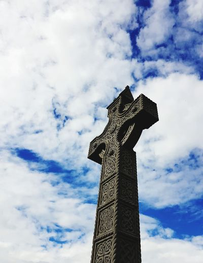 Celtic Cross Cloud - Sky Low Angle View Outdoors Sky Day Statue Sculpture No People Nature Close-up