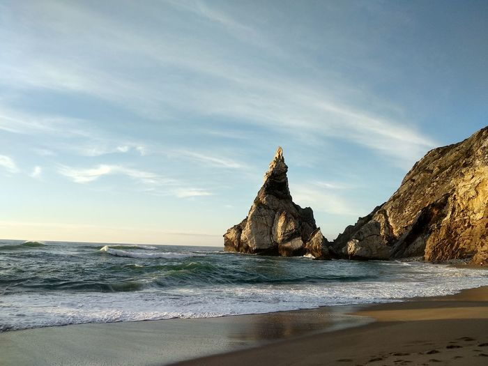 EyeEm Selects Water Sea Beach Sunset Sand Wave History Ancient Low Tide Sky Seascape Horizon Over Water Rocky Coastline EyeEmNewHere