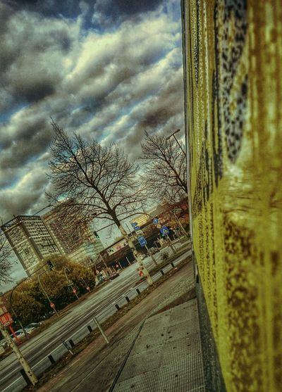 Yellow and gray and blue and whiteMy City Berliner Tor