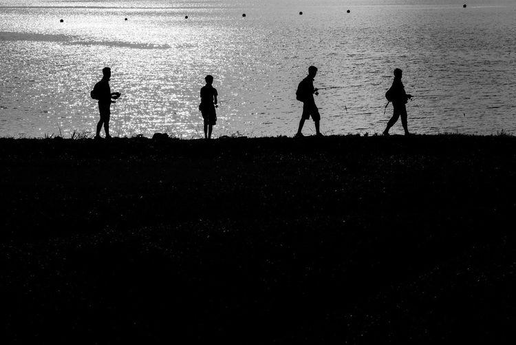 Fishing crew People Photography Blackandwhite B&w Monochrome Streetphotography People Shillouette