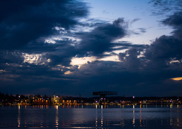 City Cloud Cloud - Sky Cloudy Dark Dramatic Sky Idyllic Illuminated Night No People Outdoors Overcast Reflection Scenics Sky Sunset Tranquil Scene Tranquility Water Waterfront Weather
