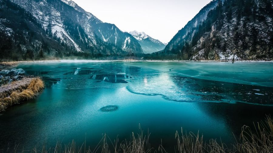 Frozen Lake By Mountains