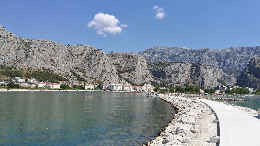 Mountain Landscape Sky Blue Water Beach Beauty In Nature Outdoors Day Omis Croatia Scenics Mountain Range Travel Destinations Omis