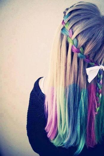 Hair chalk braid