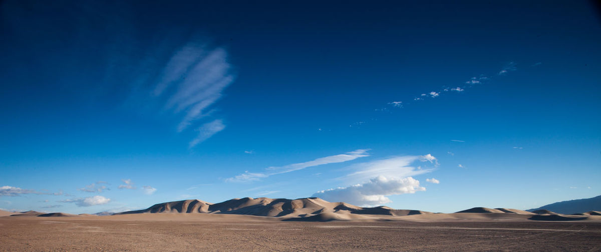 Scenic view of sand at mojave desert