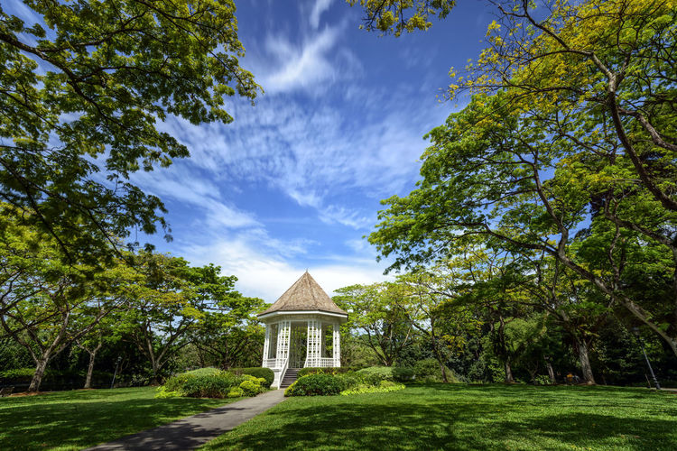 Singapore Botanic Garden Architecture Band Stand Bandstand Building Exterior Built Structure Cloud - Sky Clouds Day Dome Nature No People Outdoors Religion Scenics Singapore Botanic Garden Sky Travel Destinations Tree