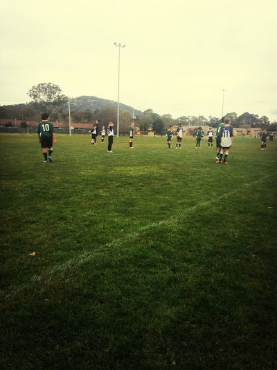 Another day at the soccer field
