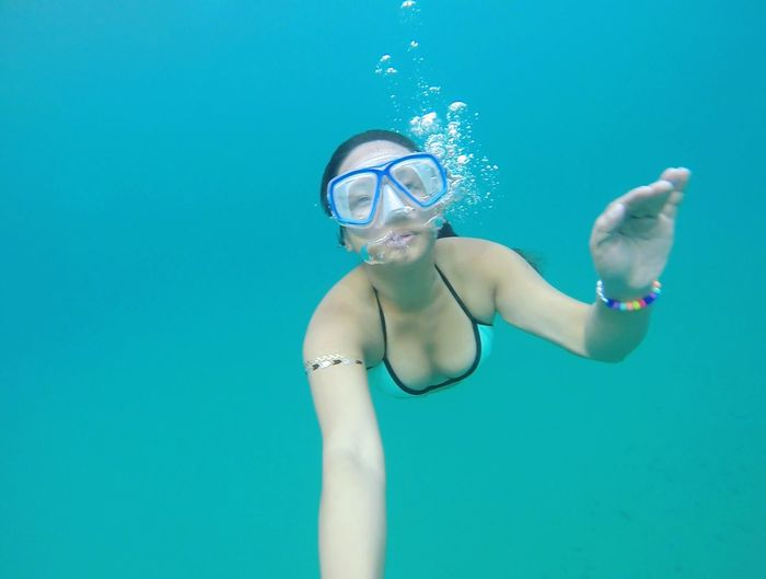 free diving in