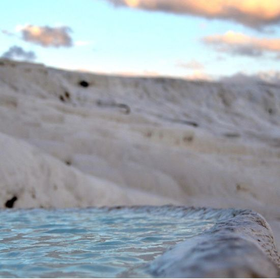 Travertinpark Pamukkale Sand Water No People Sea Outdoors Nature Beauty In Nature Wave Day