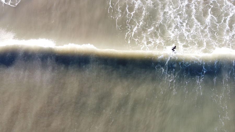 High angle view of splashing water