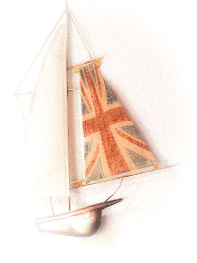 EyeEm Selects No People White Background Paper Close-up Indoors  Day Boat Union Jack Sailboat Ornament Union Flag Spinaker Yacht Wall Ornament