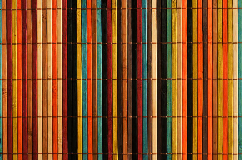 An abstract image of vertical color bars. Abstract Artistic Backdrop Background Beautiful Blue Color Colorful Composition Creative Decor Decoration Decorative Design Indoors  Multi Colored Orange Pattern Rainbow Red Striped Textured  Textured  Wallpaper Yellow