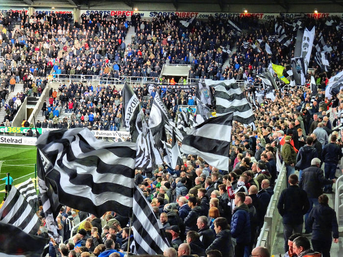 Cheering Crowd Fan - Enthusiast Flags Football Gallowgate Gallowgate End Newcastle Newcastle Upon Tyne Newcastle Utd Nufc Soccer Spectator St James's Park
