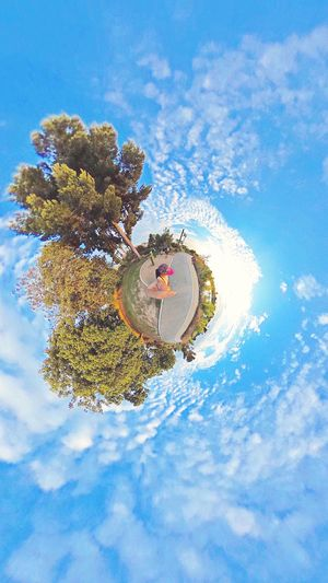 Photo Sphere  Tiny Planet Little Planet ThetaS Leisure Activity Walking In The Park Theta360 Panorama Park