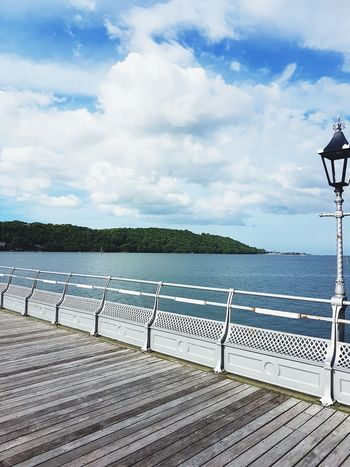 Cloud - Sky Water Pier Sky Railing Day No People Built Structure Nature Sea Outdoors History Tree