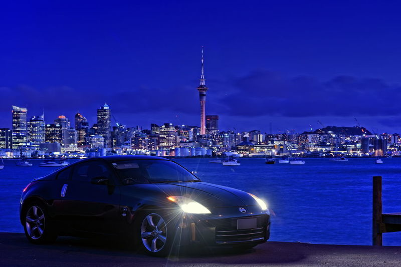 The Drive City Urban Skyline Skyscraper Cityscape Tower City Urban Skyline Skyscraper Tower Cityscape Night Car Modern Ferris Wheel Architecture No People Sky Nightlife Outdoors FairladyZ Fairlady Z Nissan Nissan 350z Fairlady