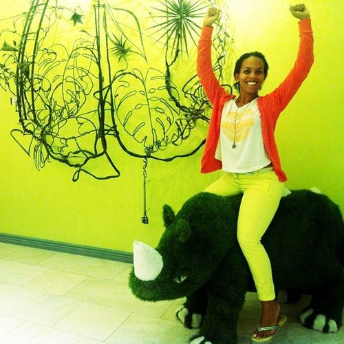 There is even a green Rhino at @hotelverde Africa 1st Green Hotel! Lovecapetown Meetsouthafrica Earthhour