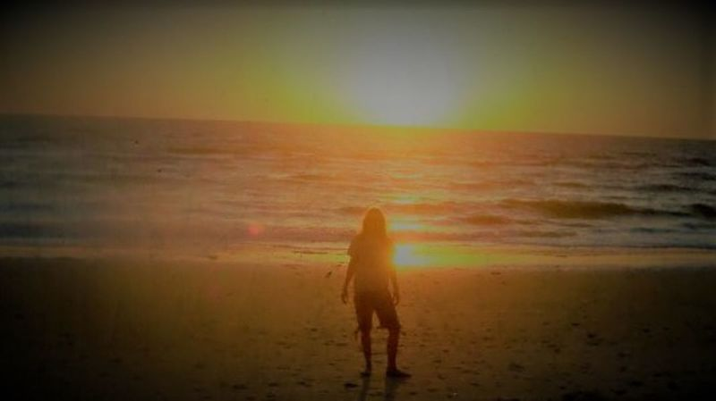 Faith Hope Soul Searching Intense Nolookingandnoturningback Riseabove Betternotbitter Beach Land Sea Horizon Sky Horizon Over Water Vignette Scenics - Nature Sunset Nature One Person Water Outdoors