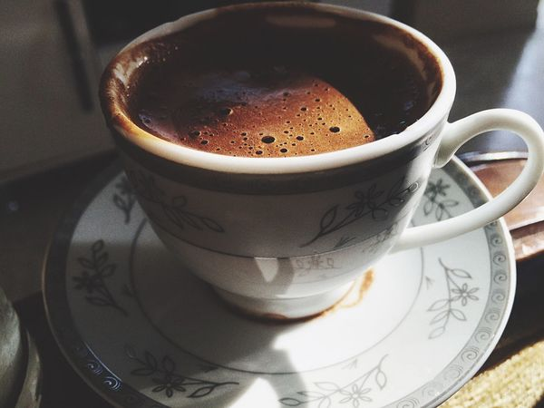 Olmazsa olmaz🍂🍃 Coffee Cup Coffee - Drink Frothy Drink Saucer Drink Cup Freshness Day ☕️