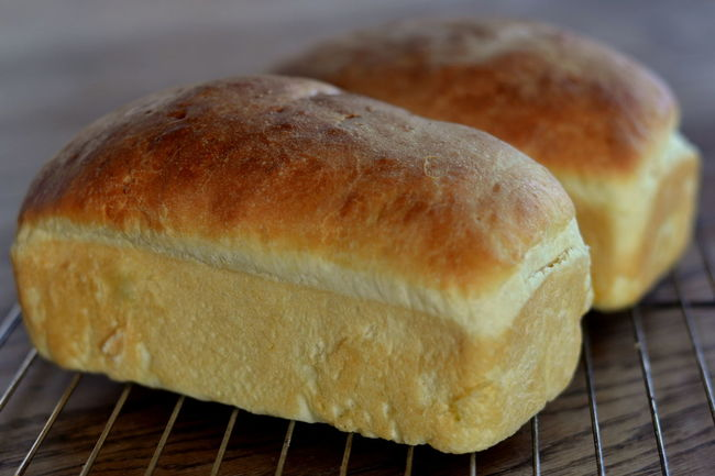 Potato Bread Loaves, homemade Bread Loaves Cooling  Food Food And Drink Health Food Healthy Homemade Homemade Bread Loaf Potato Bread Two Two Objects Vegan Vegan Food Vegetarian Vegetarian Food Wheat White Bread Wire Rack Yeasted Bread