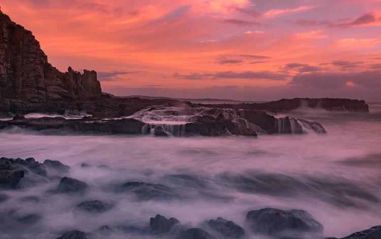 Bold risings Sunrise Seascape Pink Sky Ocean Waves Tree Waterfall Mountain Urban Skyline Wave Calm Coast