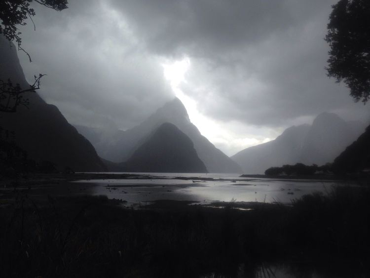 Magnificent Mountains Taking Photos Enjoying Life Hello World Sky Nature In All Its Glory At The End Of The World Turbulent Waters Storm Warning Miles Away Milford Sound, New Zealand.