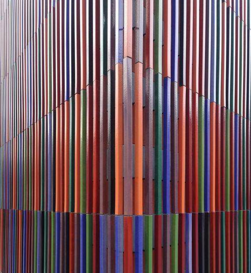 Brandhorst Brandhorst Museum Museum Multi Colored Full Frame Backgrounds Pattern No People In A Row Large Group Of Objects Close-up Variation Indoors  Striped Choice Art Architecture Abstract Design Abundance Textile Day