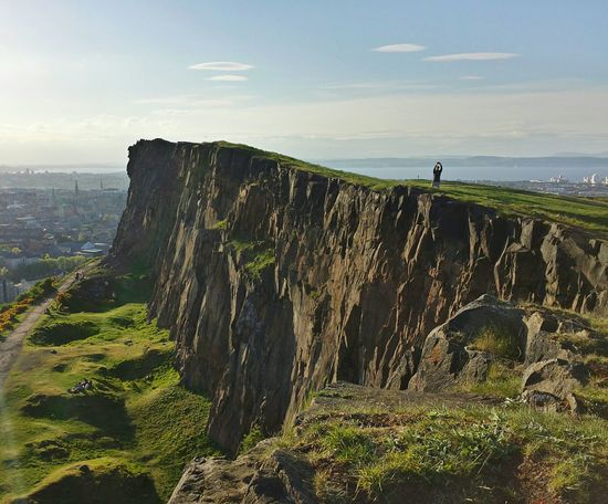Salisbury Crags, May 2014. Hiking Salisbury Crags Summer Edinburgh Scotland Hiking Adventures Urban Hiking Cliffs Sunlight Daylight Natural Light Green Landscape Landscape Cityscape Firth Europe Travel Microadventure