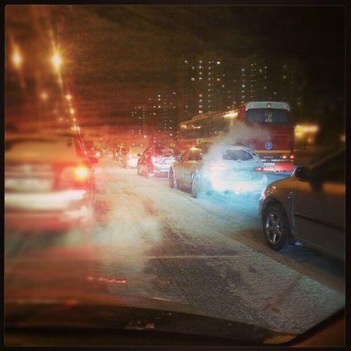 пробки как в Москве :(