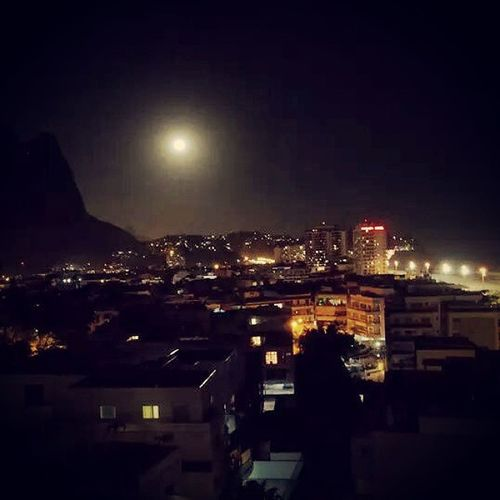 Moon power. Citylights Rio Brazil Stunning View BarraRJ
