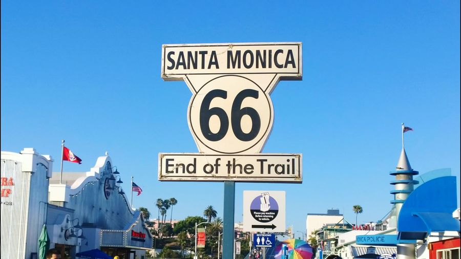Santa Monica Pier Santa Monica Beach Sign Sky