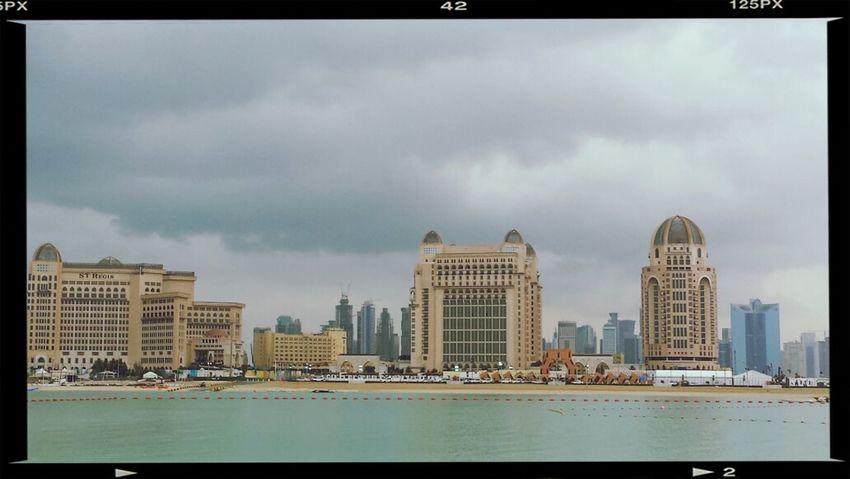 Doha#City#❤ I ❤ Qatar Clouds And Sky Sky Scrapers