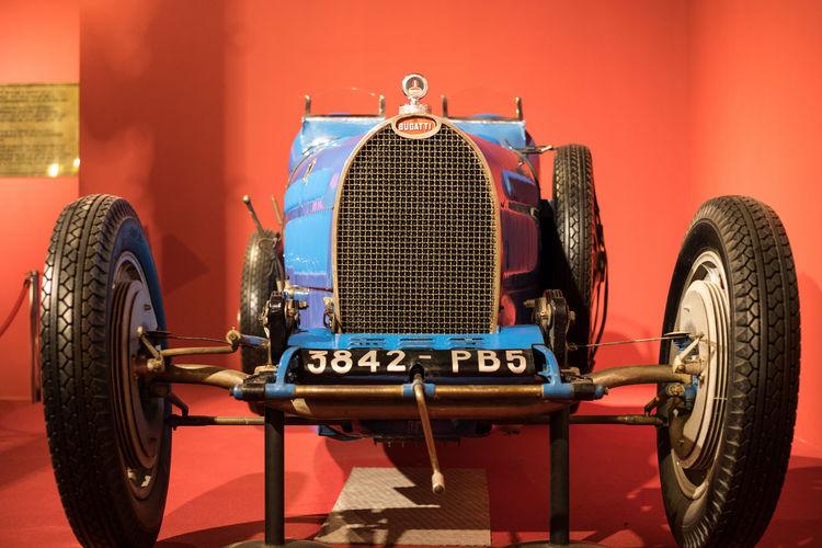 Cité de l'Automobile Antique Car Blie Bugatti Close-up Race Car Sports Car Transportation Wheel