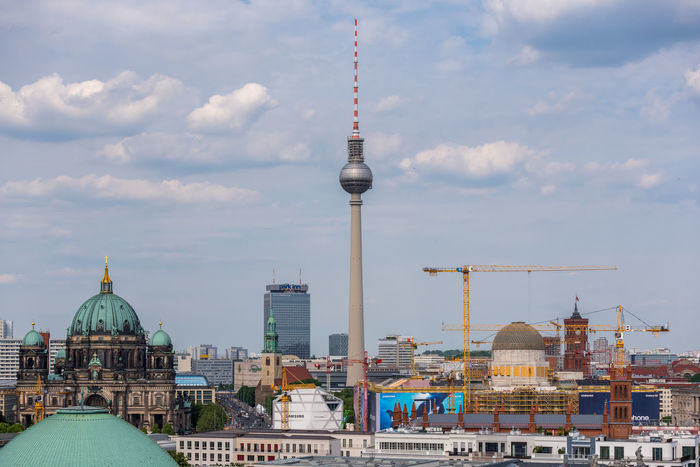 Berliner Dom and Fernsehturm Berlin Berlin Mitte Berlin Photography Berlin, Germany  Berliner Ansichten Berliner Dom Berlinstagram Cityscape Deutschland Fernsehturm Fernsehturm Berlin  Germany Overview TV Tower TV Tower View