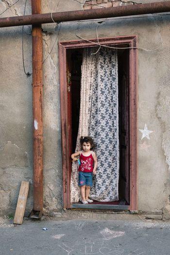 Doorway House Portrait Childhood Street Photography