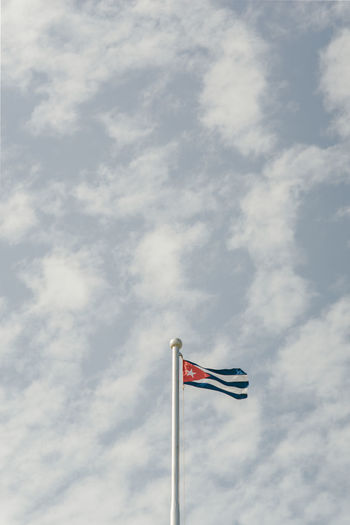 Cuba Cuba Collection Havana Havana, Cuba Cloud - Sky Day Environment Flag Flying Independence Low Angle View Motion National Icon Nature No People Outdoors Patriotism Pole Pride Sky Striped Wind