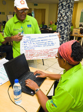 National Disaster Management Office Training unit Port Vila, Vanuatu. Architecture Casual Clothing Cyclone Pam Cyclone Relief Housing Earthquake Food And Drink Freshness Holding Leisure Activity Mature Adult National Disaster Management Oxfam Pacific Person Port Vila, Vanuatu. Training Unit