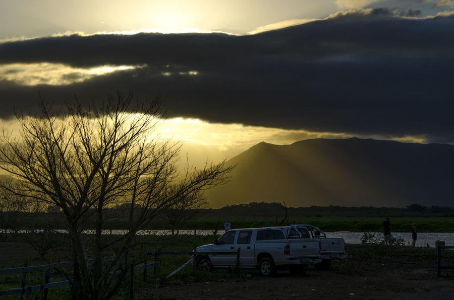 Fishing Car Cloud - Sky Fishing Lake Nature Outdoors Sunset Tree