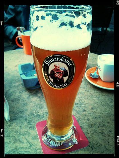 Beer Drinking Beer Weizenbier Spring In Germany