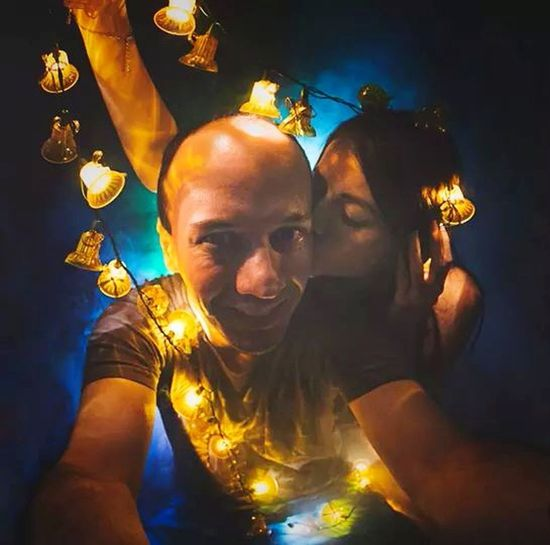 Happy Christmas! <3 Cute Couple Photographers Lights Lovely Pentaxlovers Happyholidays Christmas Lights Portrait Creative