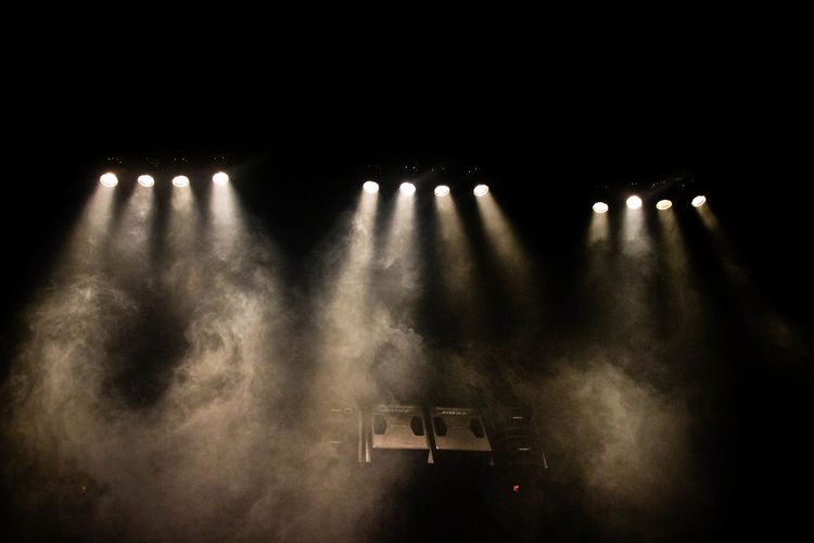 Smoke Stage Lights Arts Culture And Entertainment Illuminated Indoors  Lighting Lighting Equipment Music No People Performing Arts Event Spotlight Stage - Performance Space Stage Light