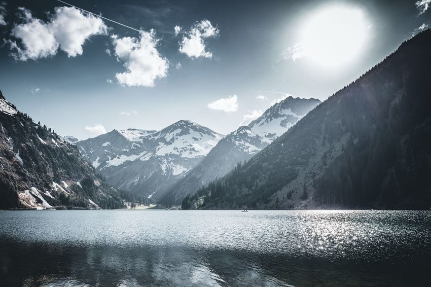 Am Vilsalpsee Mountain Alps Alpen Österreich Austria Tannheimer Tal Vilsalpsee Mountain Scenics - Nature Beauty In Nature Water Sky Mountain Range Tranquility Tranquil Scene Cloud - Sky Nature Lake No People Day Non-urban Scene Environment Outdoors